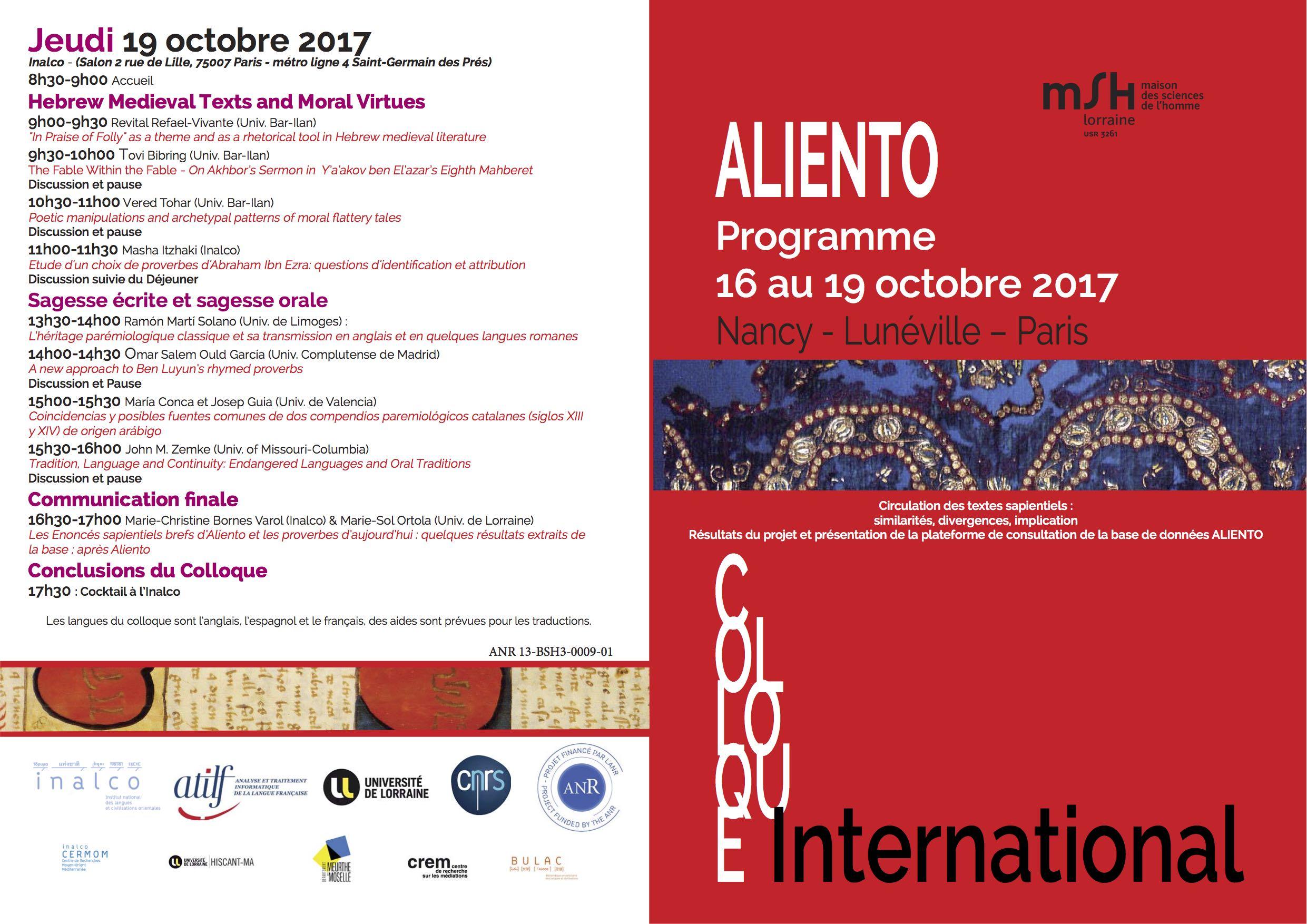 Programme ALIENTO OCT FRANCAIS version 26 sept 2